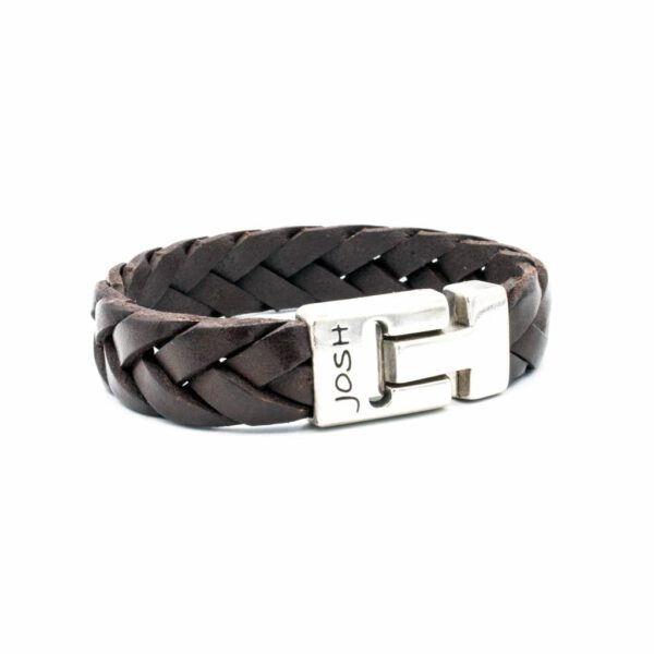Josh armband - bruin leren armband - Te koop bij Sparnaaij Juweliers in Aalsmeer en Hoofddorp