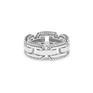 Buddha to Buddha Barbara Link ring - 925 zilver - Te koop bij Sparnaaij Juweliers in Aalsmeer en Hoofddorp