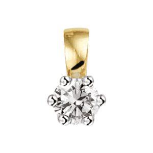 Hanger diamant 0.10ct H SI
